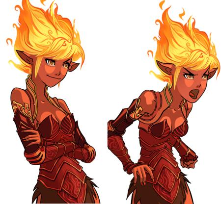 cleavage dnd fire genasi // 1168x1080 // 609.8KB