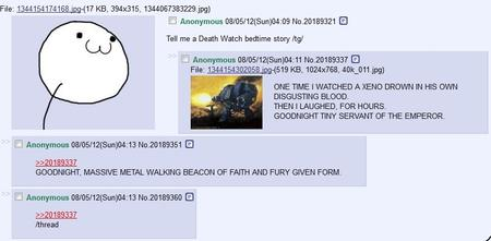 4chan humor screenshot tg wh40k // 855x420 // 158.5KB