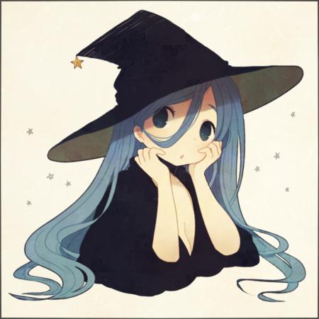 blue_hair hat long_hair witch // 700x700 // 586.2KB