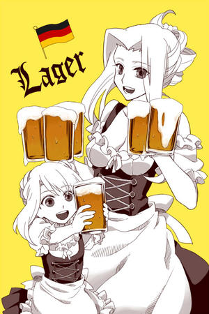 apron beer blonde cleavage dress waitress // 500x750 // 102.1KB