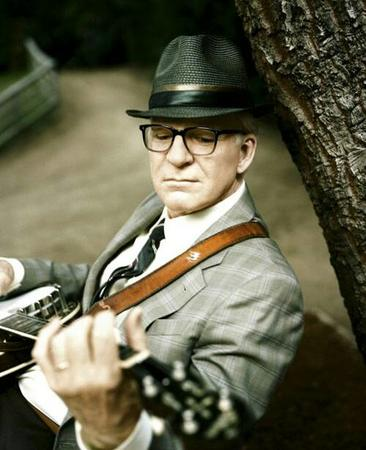 banjo glasses hat necktie photo steve_martin suit // 500x615 // 43.5KB