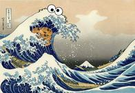 cookie_monster ukyo_e wave // 500x345 // 43.7KB