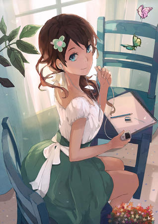 brunette dress green_eyes // 862x1219 // 647.1KB