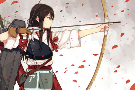 arrows bow brunette miko // 1275x850 // 637.5KB