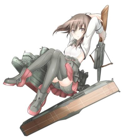 boots brown_eyes brunette crossbow minskirt pleated_skirt short_skirt shorts skirt thighhighs // 1300x1500 // 284.5KB