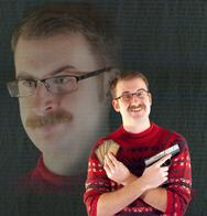 badass glasses gun magic_the_gathering mustache pistol sweater trigger_discipline // 920x960 // 151.0KB