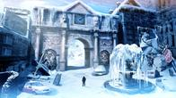 clock fountain ice ruins scenery snow // 800x450 // 182.2KB