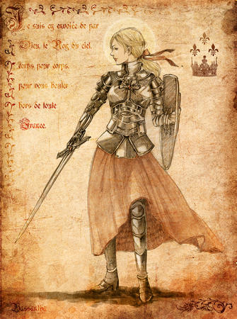 armor blonde long_skirt ponytail shield skirt sword // 741x995 // 1.2MB