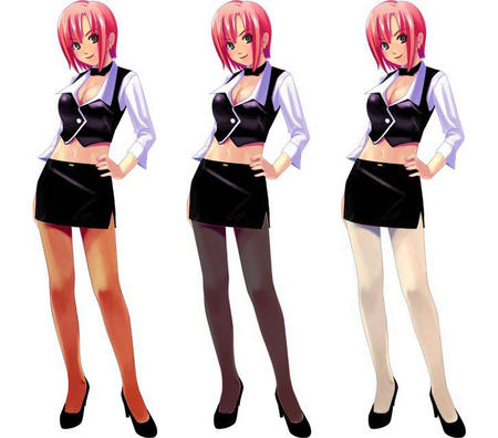 blackjack bowtie cleavage composite green_eyes redhead rio short_skirt skirt super_blackjack vest // 728x640 // 63.9KB