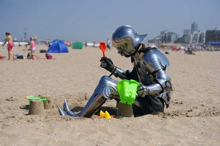 armor beach helmet photo sallet sandcastle // 640x427 // 73.4KB