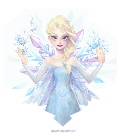 blonde blue_eyes braids disney dress elsa frozen // 800x904 // 99.4KB