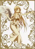 angel barefoot blonde chuunibyou_demo_koi_ga_shitai green_eyes long_hair wings // 3148x4341 // 6.6MB