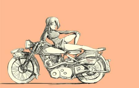 bw motorcycle sketch trebuxet // 1422x900 // 130.2KB
