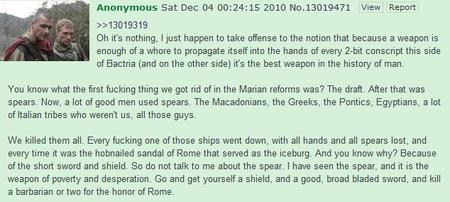 4chan rome screenshot spear sword tg // 634x284 // 51.3KB