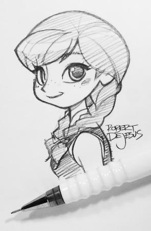 anna blonde braids bw disney freckles frozen pen sketch vest // 426x649 // 48.1KB