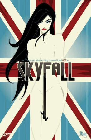 brunette long_hair poster skyfall // 500x771 // 51.2KB