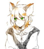 blonde ffxi final_fantasy green_eyes mithra nekomimi sketch // 600x667 // 342.1KB