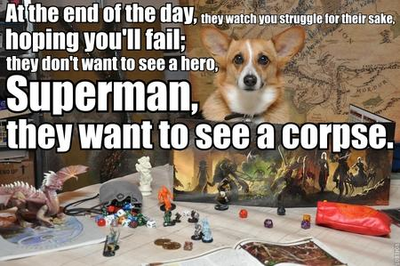 corgi dnd humor macro photo // 900x598 // 218.3KB