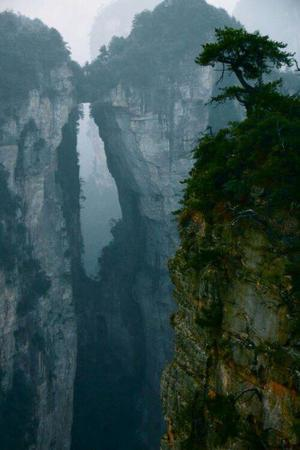cliff fog photo scenery // 500x750 // 46.5KB
