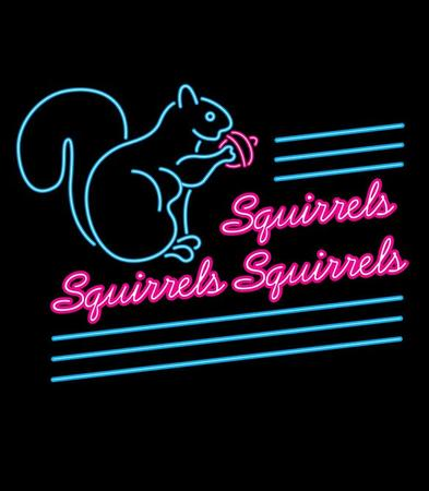 humor neon sign squirrel // 583x667 // 65.0KB