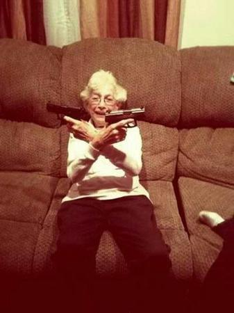 couch gangsta glasses gun photo // 500x668 // 37.6KB