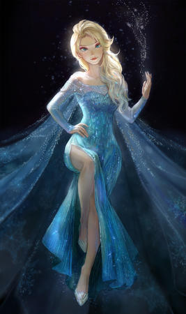 blonde blue_eyes braids disney dress elsa frozen // 1000x1687 // 374.3KB