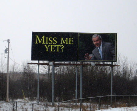 george_w_bush humor photo political sign // 1754x1430 // 970.1KB