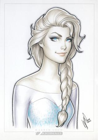 blonde blue_eyes braids disney elsa frozen gown warren_louw // 578x824 // 628.1KB