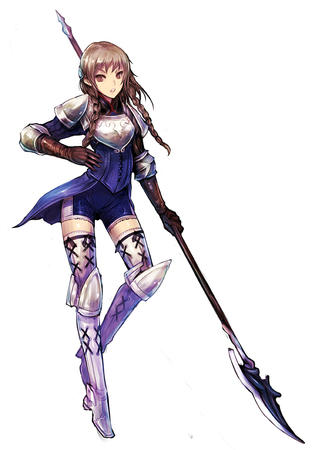 boots braids brunette glaive glove polearm ravness short_shorts shorts spear tactics_ogre thighhighs // 600x857 // 184.4KB