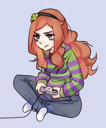 4chan freckles green_eyes long_hair redhead sweatshirt vivian_james // 829x1000 // 437.5KB