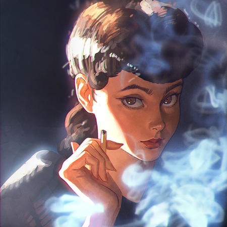 blade_runner brown_eyes brunette cigarette smoke // 1000x997 // 531.8KB