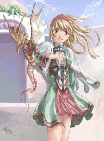 blonde dragon dress // 591x800 // 92.1KB