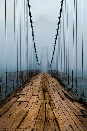 bridge fog photo scenery // 600x898 // 85.4KB