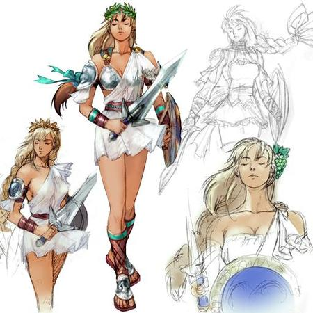 blonde braids composite crossguard dress laurel long_hair sandals shield sketch sophitia soul_calibur sword // 512x512 // 47.1KB