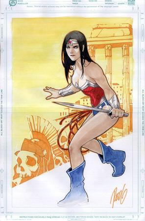 bare_shoulders blue_eyes boots brunette cleavage dc sword wonder_woman // 791x1202 // 139.5KB