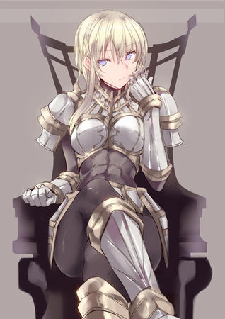 armor blonde blue_eyes gauntlets // 1002x1416 // 257.2KB