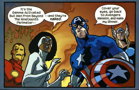 captain_america comic humor iron_man marvel misogynist nextwave photon the_avengers thor // 836x543 // 389.2KB