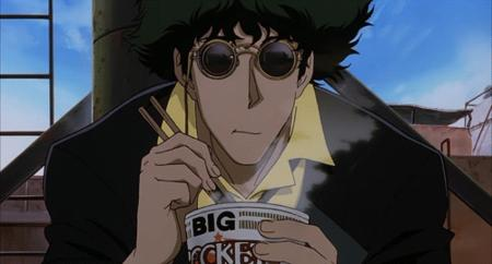 animated cowboy_bebop ramen reaction spike sunglasses // 500x269 // 336.8KB