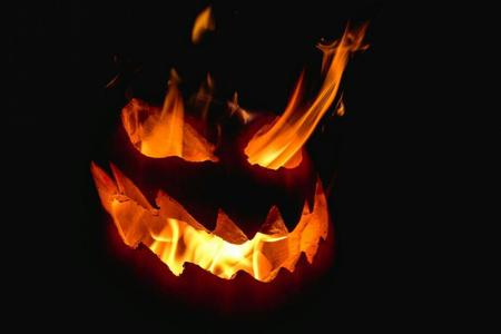 awesome fire jack-o-lantern photo pumpkin // 920x614 // 27.7KB