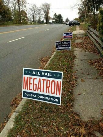 megatron photo political sign transformers // 600x800 // 95.6KB