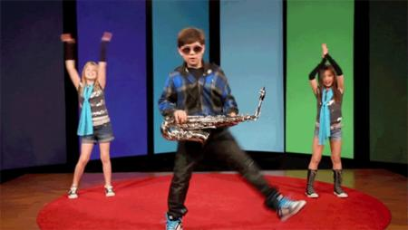 animated dance reaction saxophone sunglasses // 600x338 // 1.8MB