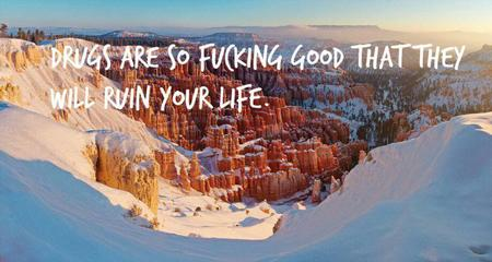 canyon drugs humor photo quote scenery snow // 920x490 // 84.4KB