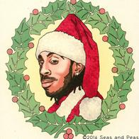 beard christmas ludacris santa wreath // 570x570 // 107.0KB