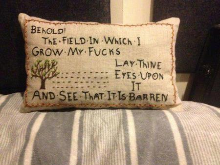 fuck humor photo pillow // 600x450 // 47.9KB