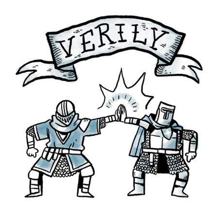 armor helmet high-five knight macro reaction verily // 456x447 // 107.9KB