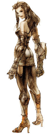 bare_shoulder brunette fft final_fantasy gauntlets high_heels monk sketch // 400x1000 // 88.9KB