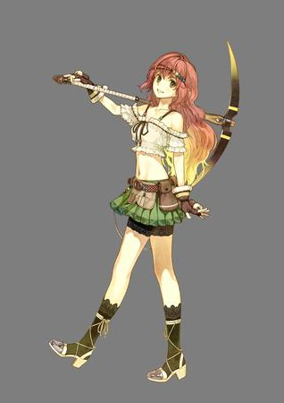 atelier brunette gloves long_hair pickaxe pleated_skirt redhead sandals shorts short_skirt skirt // 2480x3507 // 678.6KB