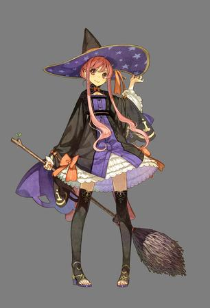 atelier broom hat long_hair pink_hair redhead witch // 2381x3507 // 957.3KB
