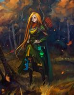 arrows blonde bow cape green_eyes long_hair // 792x1010 // 52.3KB