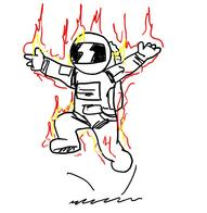 fire sketch spacesuit ss13 // 628x646 // 58.0KB